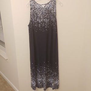 PureJill Blue Speckles Rain Dress Maxi Size XL